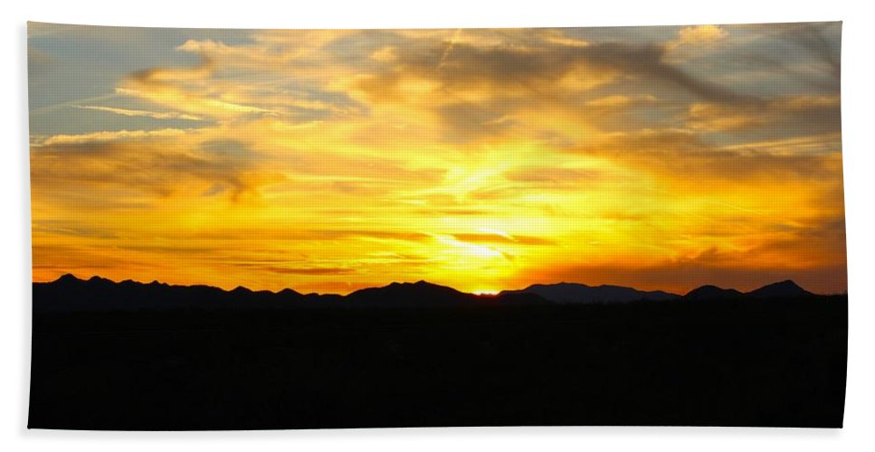 Sunset Hand Towel featuring the photograph Relaxation by Tiffany Erdman