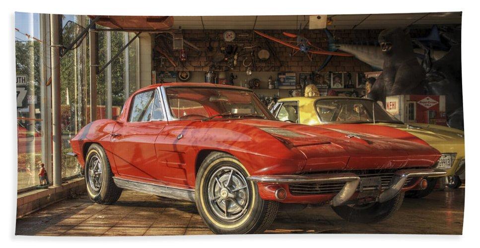 Corvette Hand Towel featuring the photograph Relics Of History - Corvette - Elvis - Nehi by Jason Politte