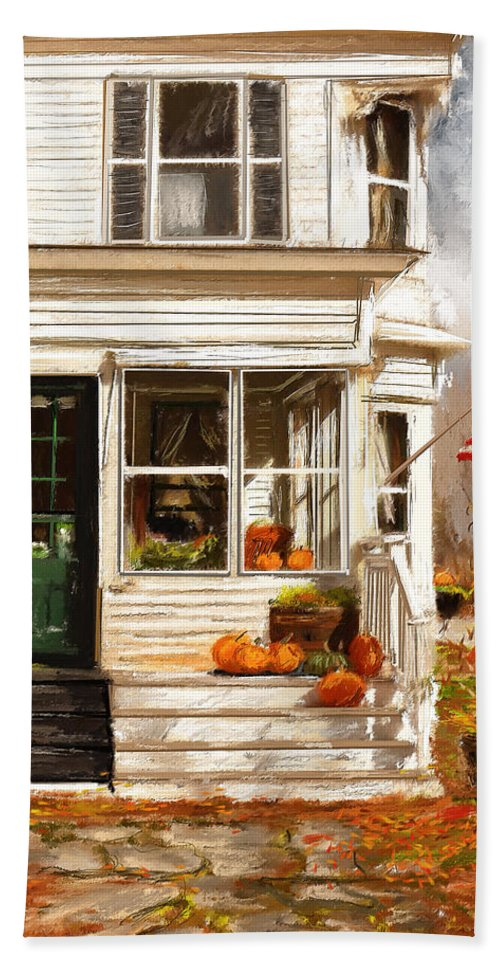 Porches Bath Sheet featuring the painting Remembering When- Porches Art by Lourry Legarde
