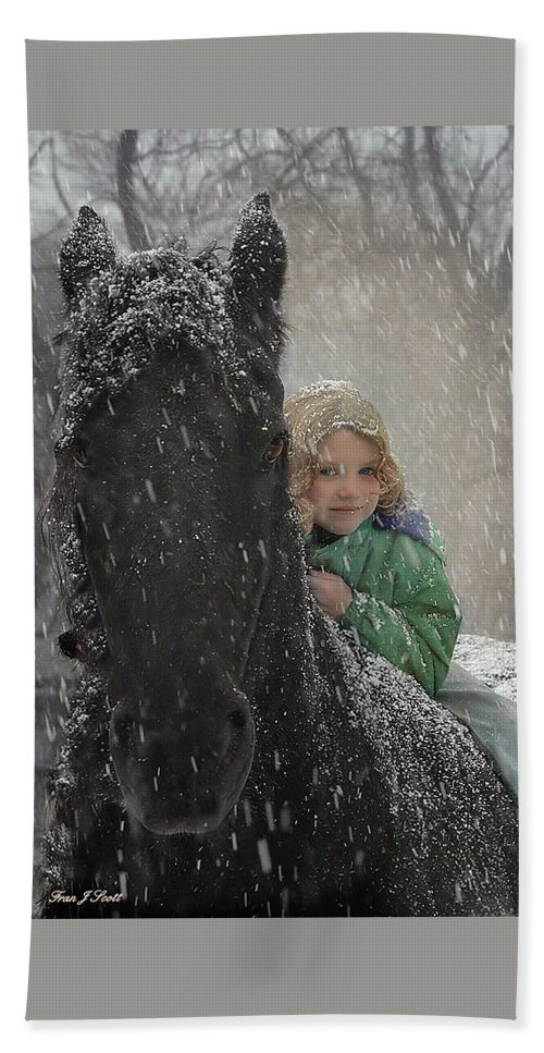 Friesian Bath Towel featuring the photograph Remme And Rory by Fran J Scott