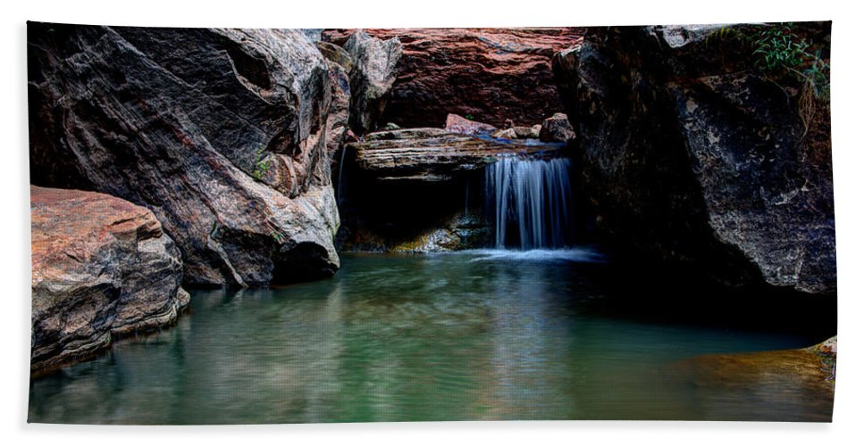 Water Bath Sheet featuring the photograph Remote Falls by Chad Dutson