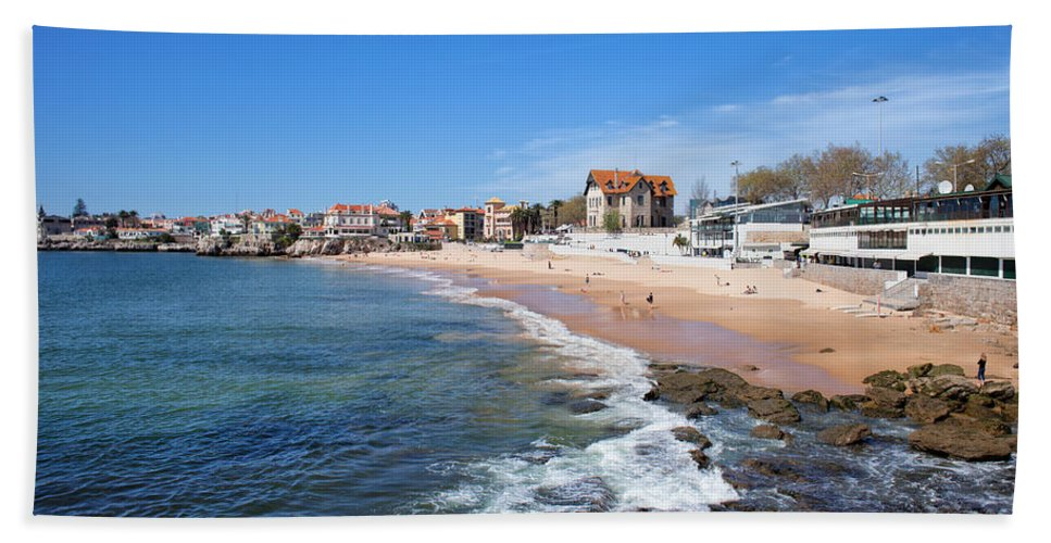Estoril Hand Towel featuring the photograph Resort Town Of Estoril In Portugal by Artur Bogacki