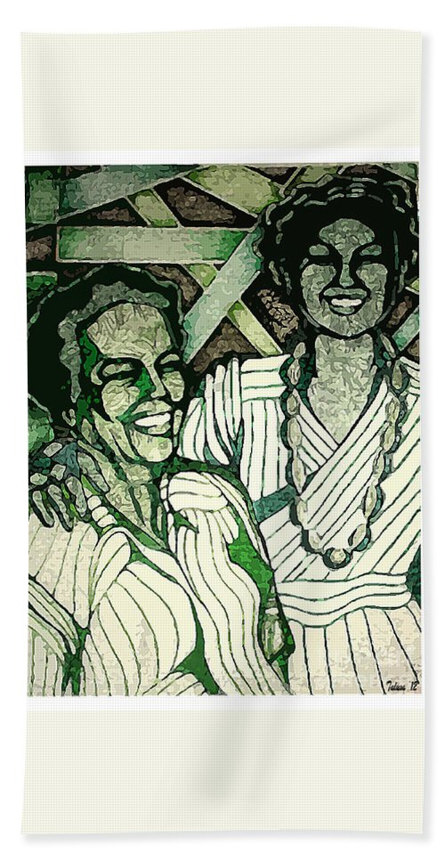 Elderly Bath Sheet featuring the digital art Respect Your Heritage by Teleita Art