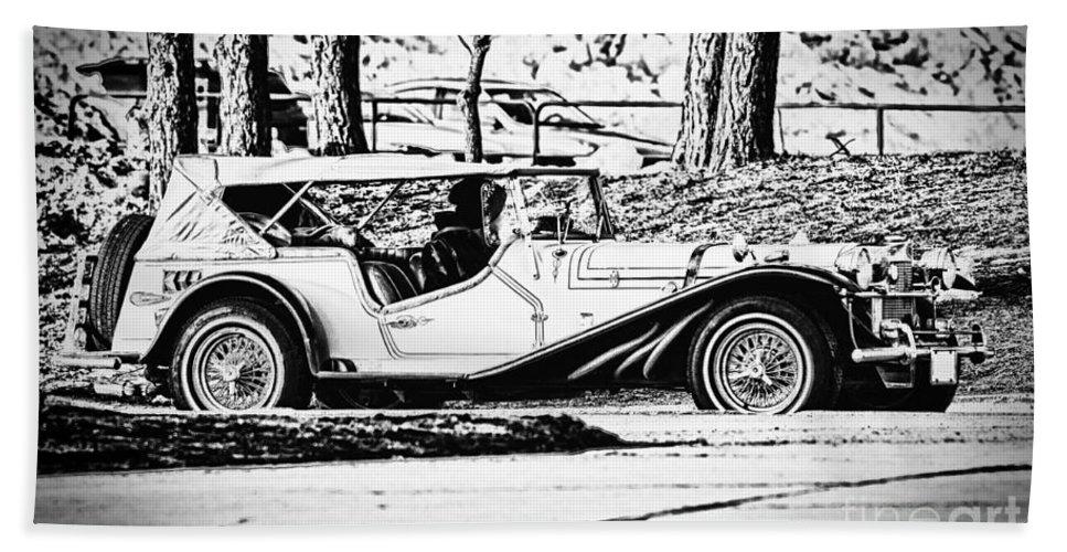 Automobile Bath Sheet featuring the photograph Retro Cabriolet by Les Palenik