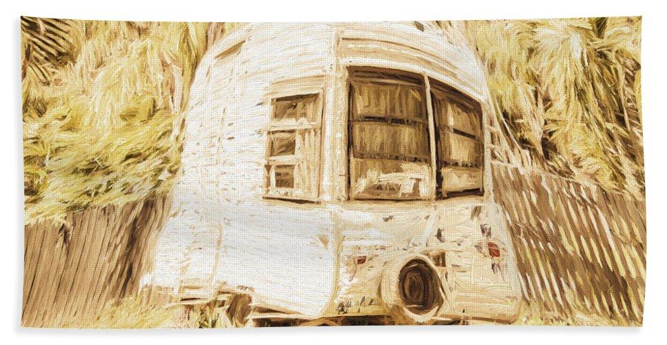 Caravan Bath Towel featuring the photograph Retrod The Comic Caravan by Jorgo Photography - Wall Art Gallery