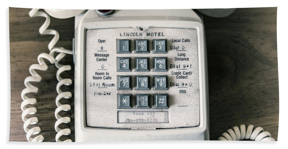Telephone Bath Sheet featuring the photograph Retrophonic by Rob Hawkins