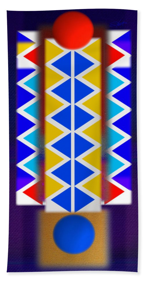 Native American Bath Sheet featuring the painting Return Of The Native by Charles Stuart