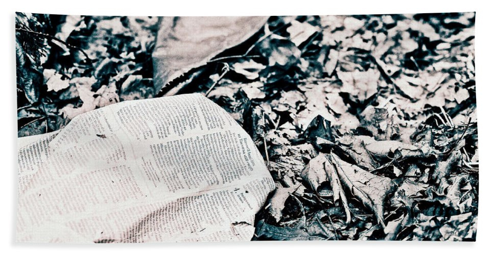 Leaves Bath Sheet featuring the photograph Return To Nature by Anna Burdette