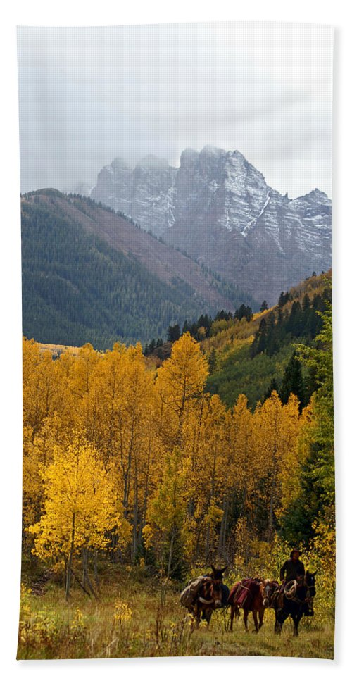 Colorado Hand Towel featuring the photograph Returning Home by Jeremy Rhoades