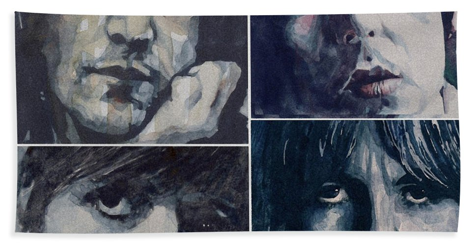 The Beatles Bath Towel featuring the painting Reunion by Paul Lovering