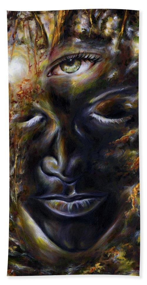 Eye Bath Sheet featuring the painting Revelation by Hiroko Sakai