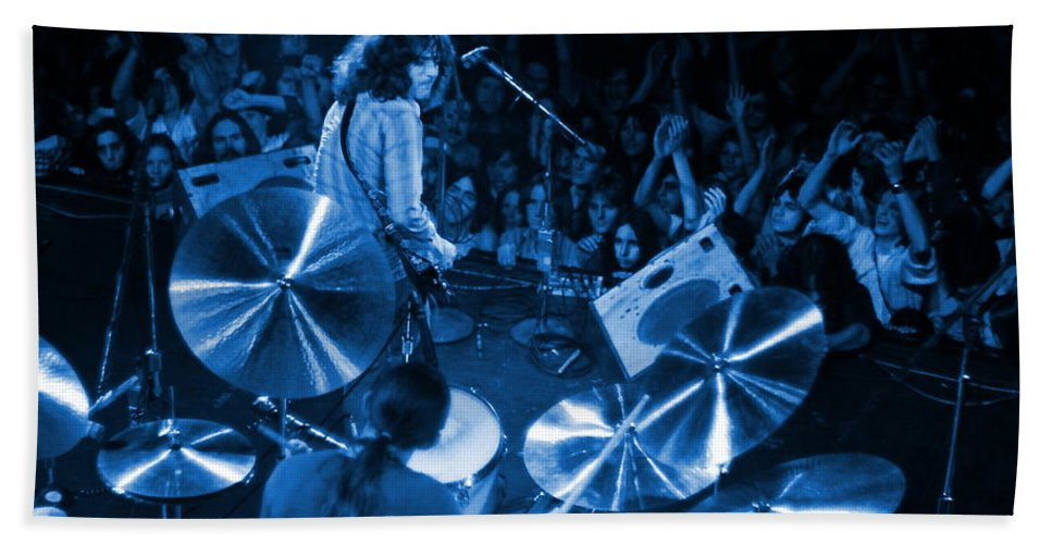 Rory Gallagher Hand Towel featuring the photograph Rg #10 In Blue by Ben Upham