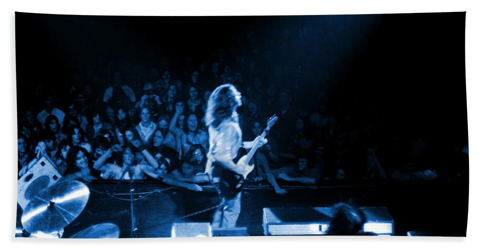 Rory Gallagher Hand Towel featuring the photograph Rg #8 In Blue by Ben Upham