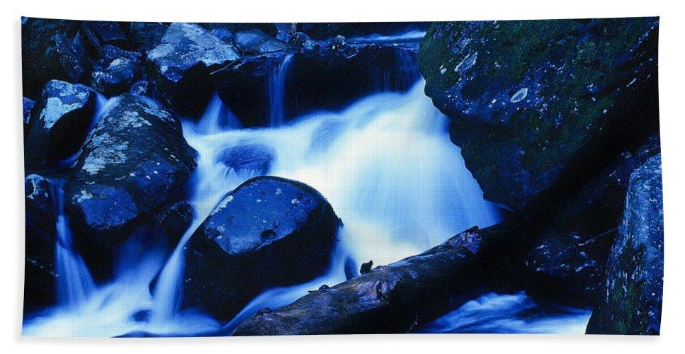 Fine Art Bath Sheet featuring the photograph Rhapsody In Blue by Rodney Lee Williams