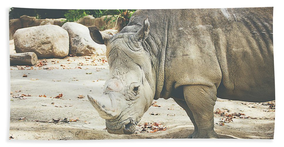 Rhinoceros Bath Sheet featuring the photograph Rhino by Pati Photography