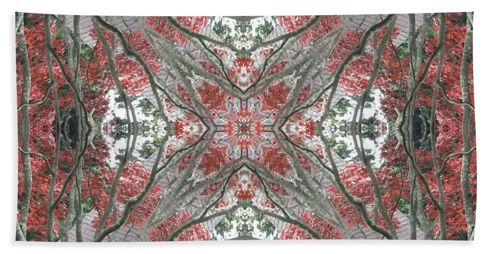 Calm Bath Sheet featuring the photograph Rhode Island Garden Two by Coventry Wildeheart