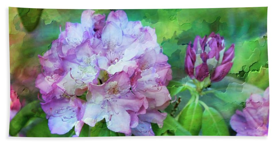 Rhododendrum Bath Sheet featuring the photograph Rhododendrum by Joyce Baldassarre