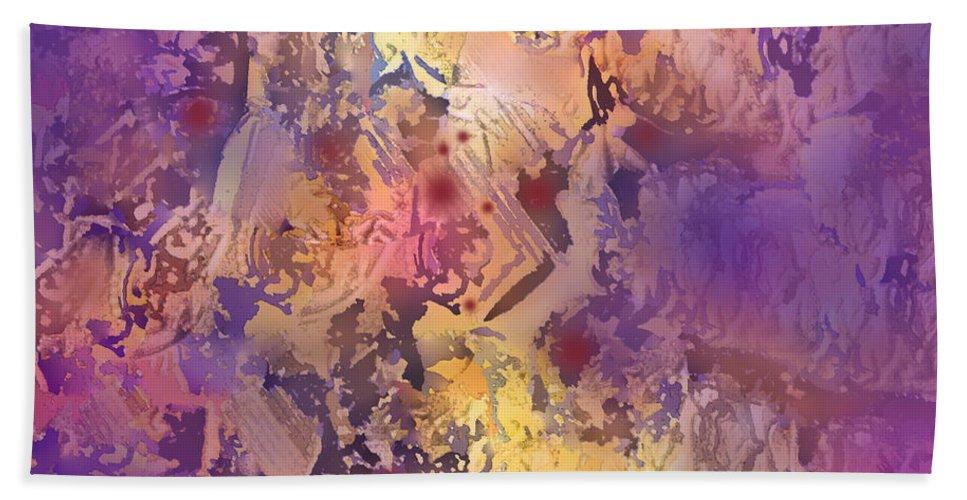 Abstract Bath Sheet featuring the digital art Rhumba by Ian MacDonald