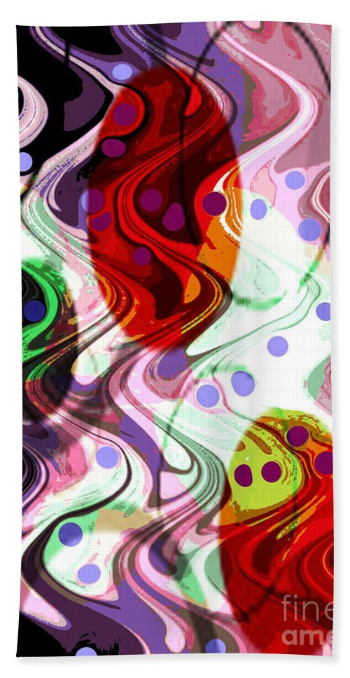 Digital Art Abstract Hand Towel featuring the digital art Rhythem Of Change II by Yael VanGruber
