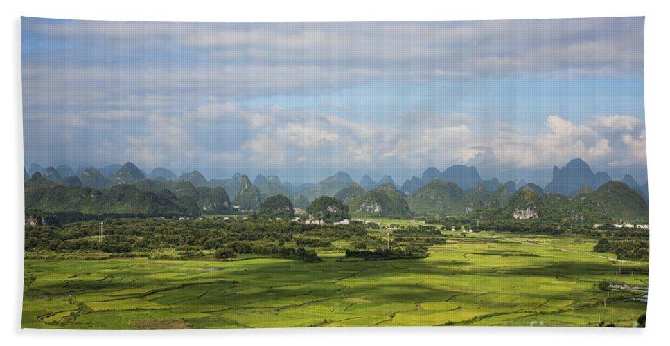 Nature Bath Sheet featuring the photograph Rice Farming In China by David Davis