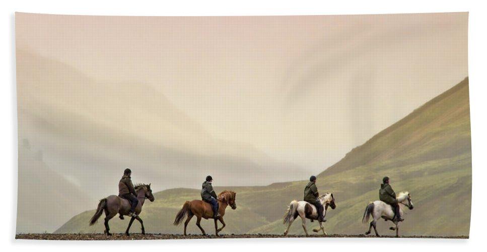 Landmannalaugar Hand Towel featuring the photograph Ride Into My Mind by Evelina Kremsdorf