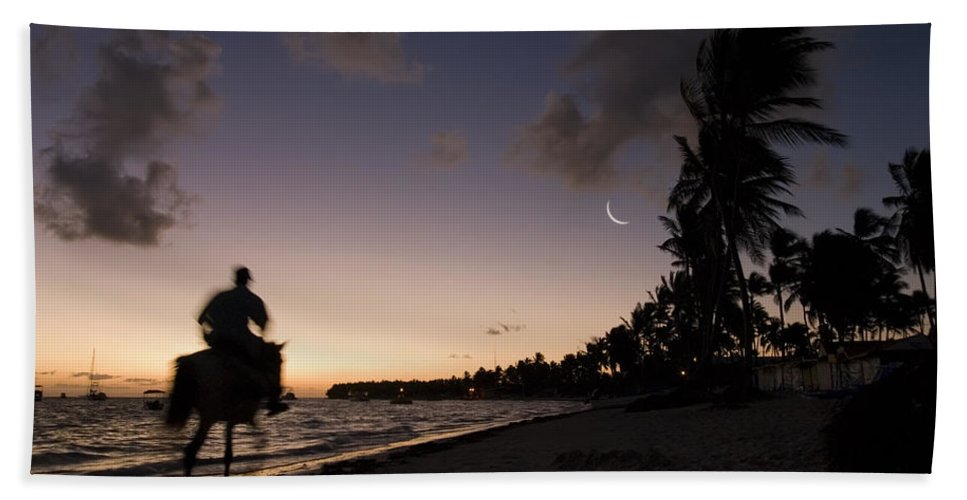 3scape Bath Towel featuring the photograph Riding On The Beach by Adam Romanowicz