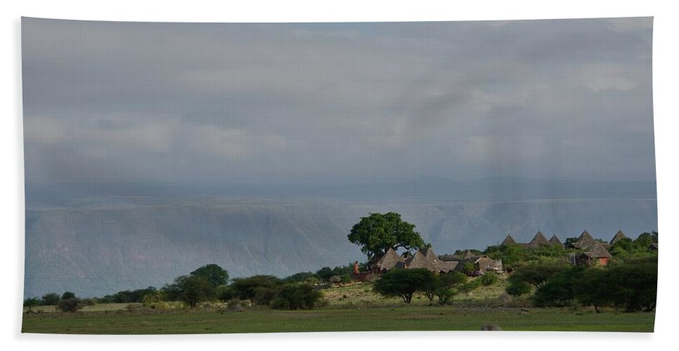 Rift Valley Photographic Lodge Hand Towel featuring the photograph Rift Valley Photographic Lodge by Ian Ashbaugh