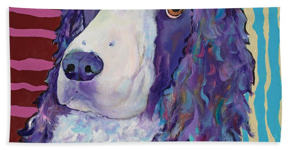 Pat Saunders-white Hand Towel featuring the painting Rio by Pat Saunders-White