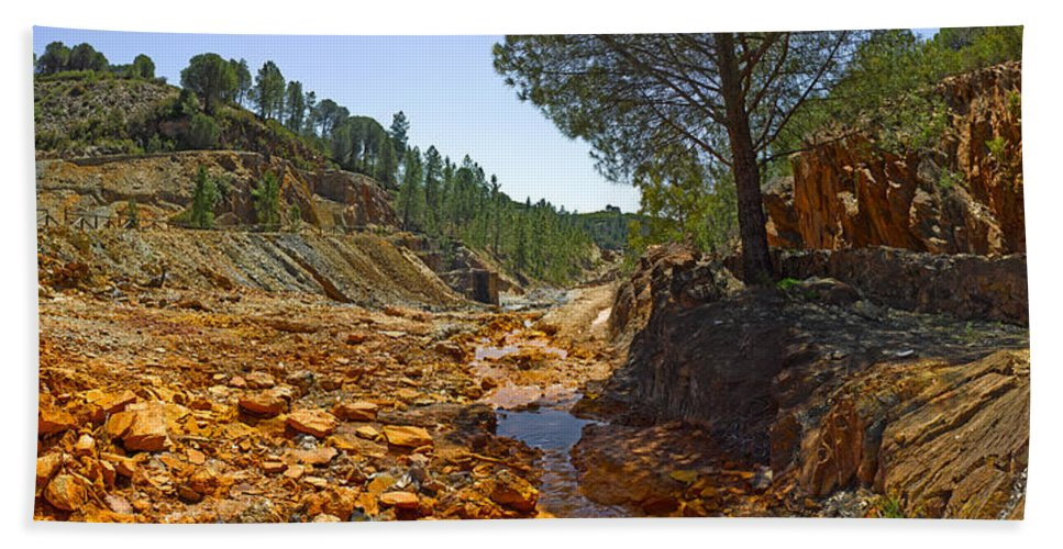 Photography Bath Sheet featuring the photograph Rio Tinto Mines, Huelva Province by Panoramic Images