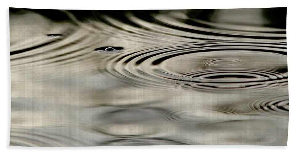 Drops Bath Sheet featuring the photograph Ripples by BYET Photography