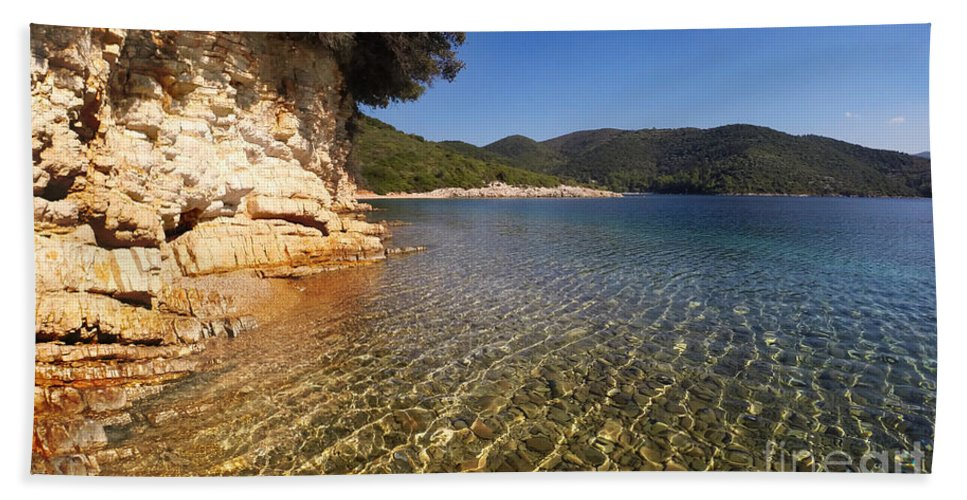 Greece Bath Sheet featuring the photograph Ripples by Linda Arnado