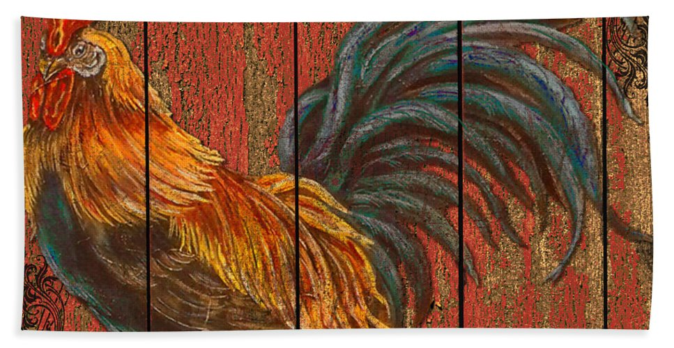 Digital Art Hand Towel featuring the mixed media Rise And Shine by Jean PLout