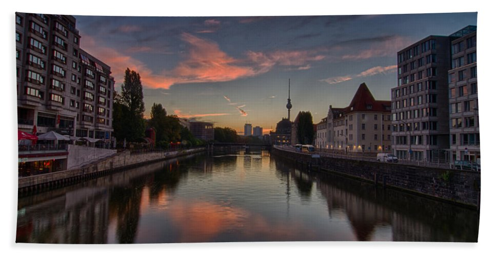 Berlin Canvas Prints Hand Towel featuring the photograph Rise by Jonah Anderson