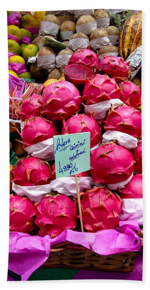 Ritaya Bath Sheet featuring the photograph Ritaya Fruit - Mercade Municipal by Julie Niemela