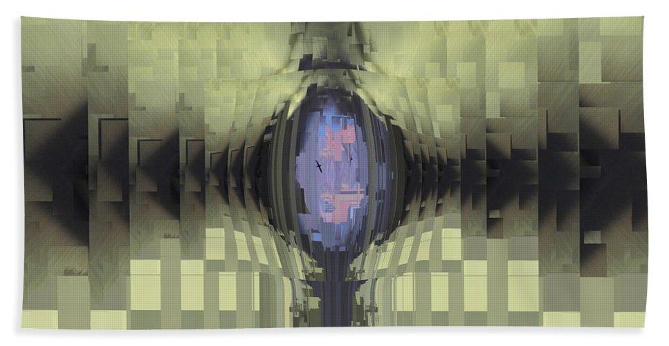Riven Bath Sheet featuring the digital art Riven by Tim Allen