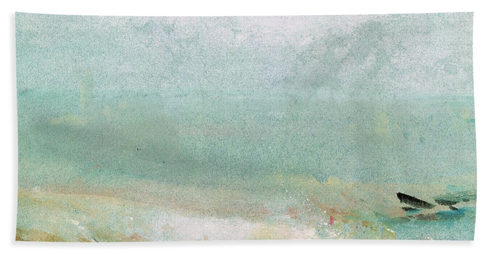 Water Hand Towel featuring the painting River Bank by Joseph Mallord William Turner