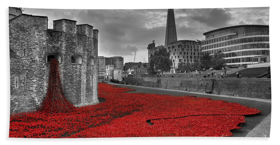 Tower Bath Sheet featuring the photograph River Of Blood by Rob Hawkins