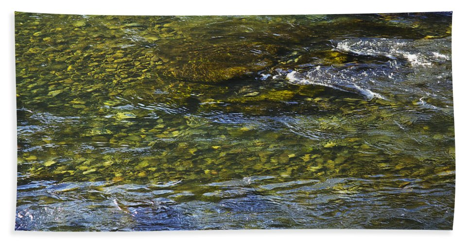 River Hand Towel featuring the photograph River Water 2 by Belinda Greb