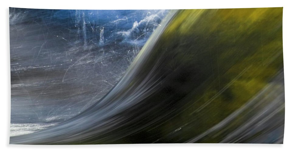 Heiko Hand Towel featuring the photograph River Wave by Heiko Koehrer-Wagner