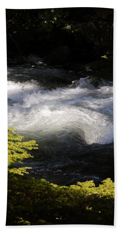 White Water Hand Towel featuring the photograph River's Ebb by Edward Hawkins II