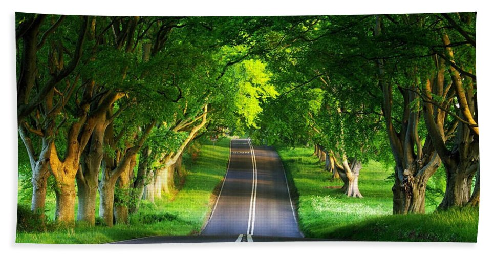 Scenic Photo Hand Towel featuring the digital art Road Pictures by Marvin Blaine