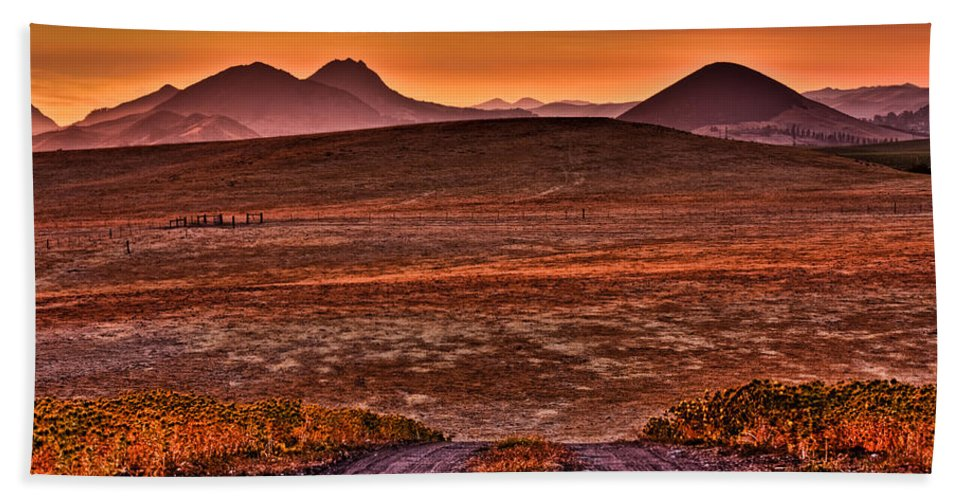 Edna Valley Bath Sheet featuring the photograph Road To Edna Valley by Beth Sargent