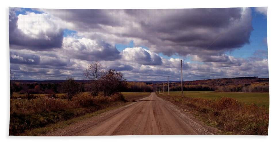 New York Hand Towel featuring the photograph Road To Fillmore by Christian Mattison