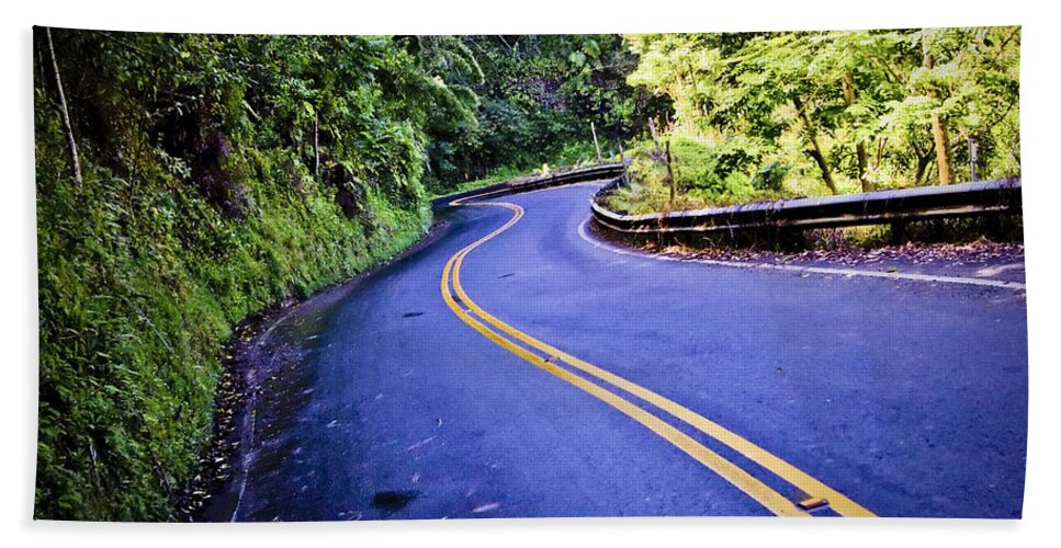 3scape Bath Sheet featuring the photograph Road To Hana by Adam Romanowicz