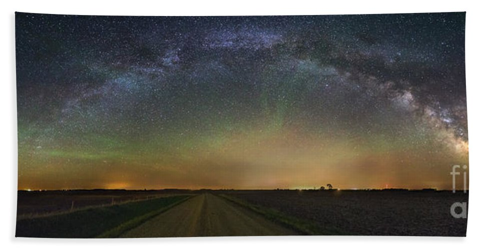 Air Glow Hand Towel featuring the photograph Road To Nowhere  Air Glow by Aaron J Groen