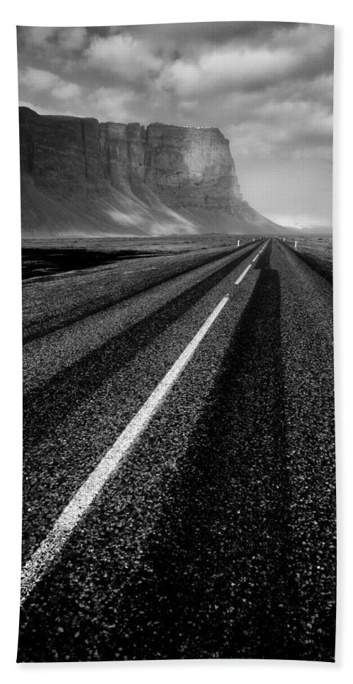 Iceland Hand Towel featuring the photograph Road To Nowhere by Dave Bowman