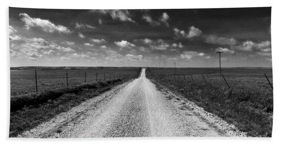 Kansas Bath Sheet featuring the photograph Road To Texaco Hill by Eric Benjamin