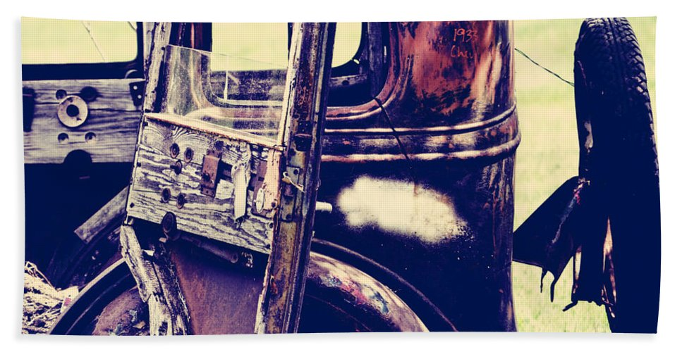 Old Car Bath Sheet featuring the photograph Road Xox by The Artist Project