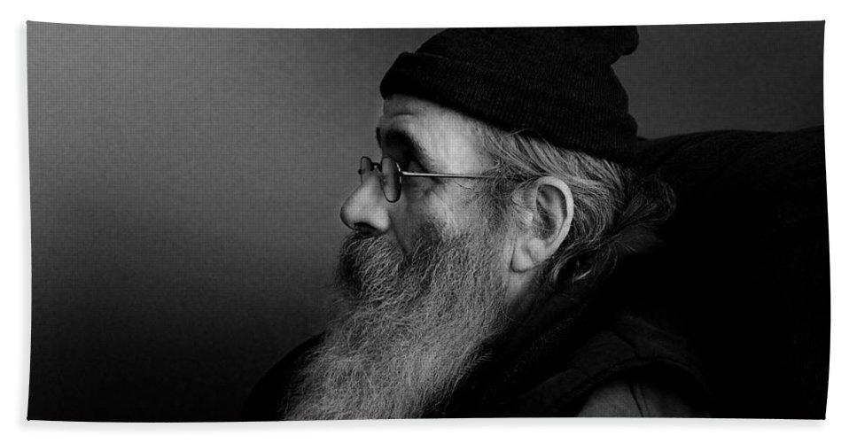Portrait Portraits Bath Sheet featuring the photograph Rob Profile by John Herzog