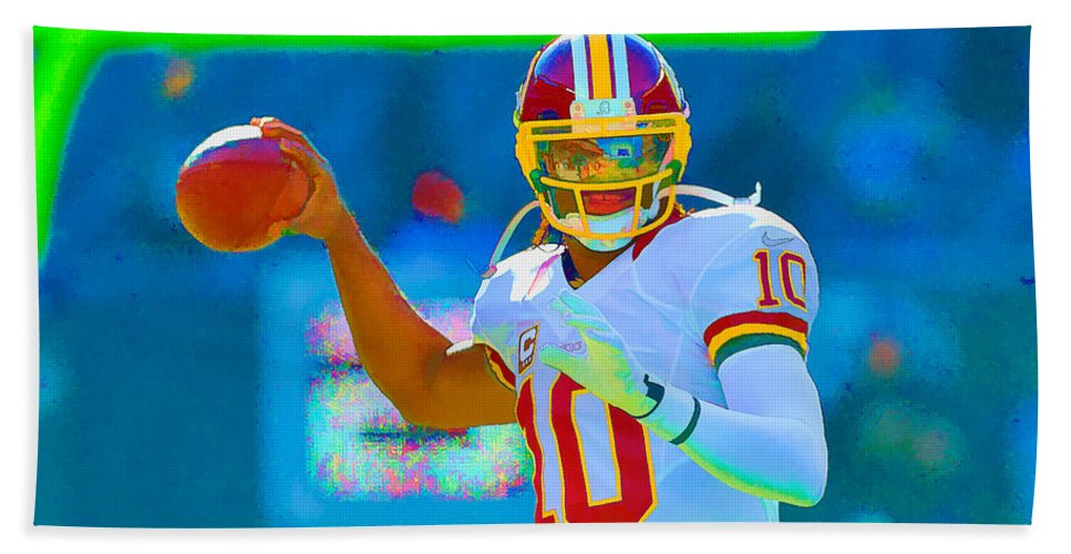 Football Hand Towel featuring the photograph Robert Griffin IIi  Rg 3 by William Jobes
